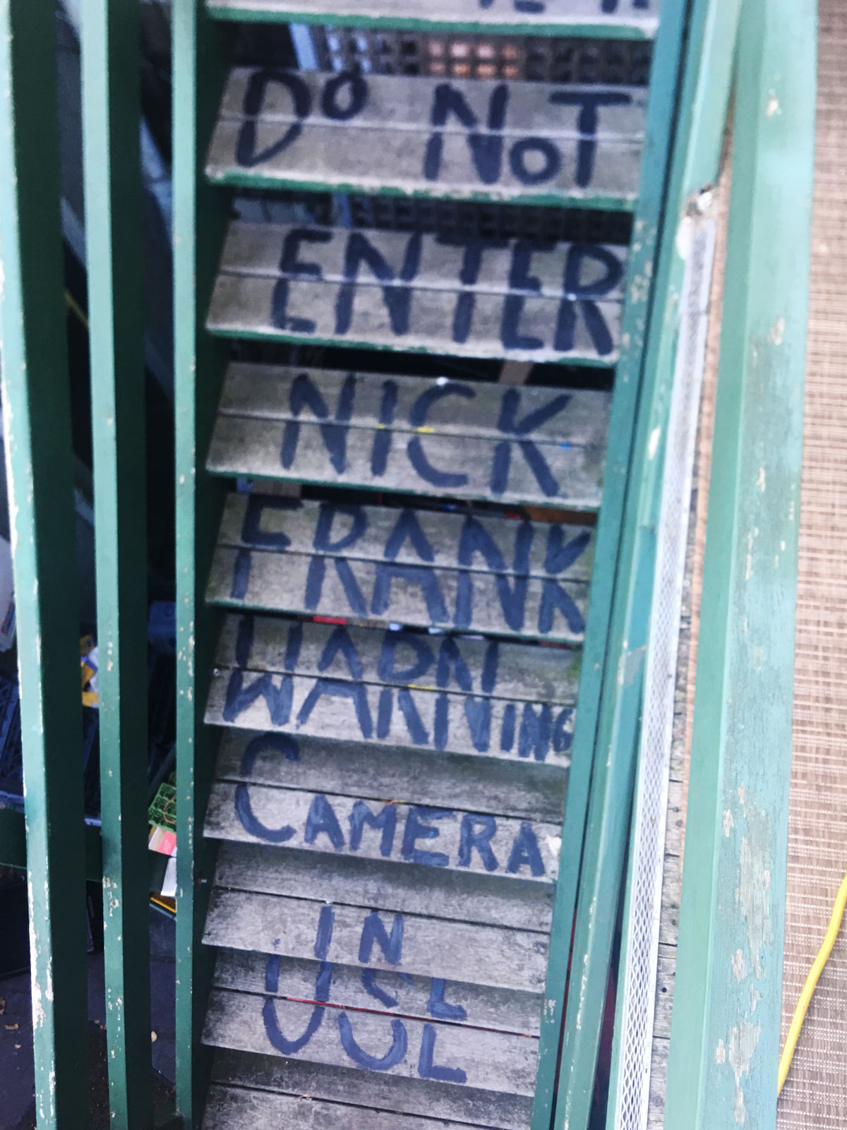 Stairs to Frank's Apartment